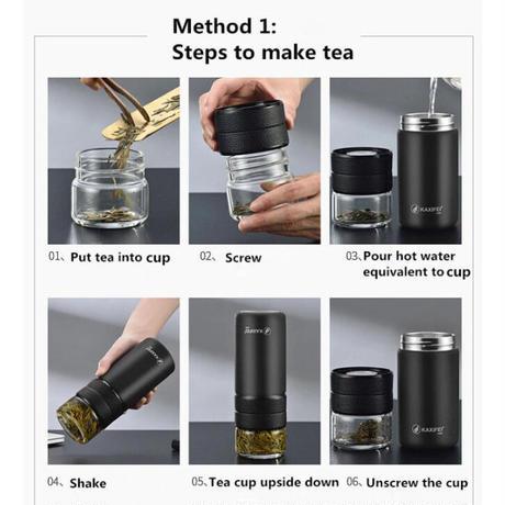 魔法瓶 5色 タンブラー 水筒 600ml 茶こし付き カップ ステンレス 真空 マグボトル ポータブル おしゃれ アウトドア キャンプ