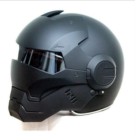 フルフェイス バイク ヘルメット アイアンマンタイプ マッドブラック 海外ブランド 高品質 ヘルメット S,M,L,XL,XXL アメコミ ヒーロー