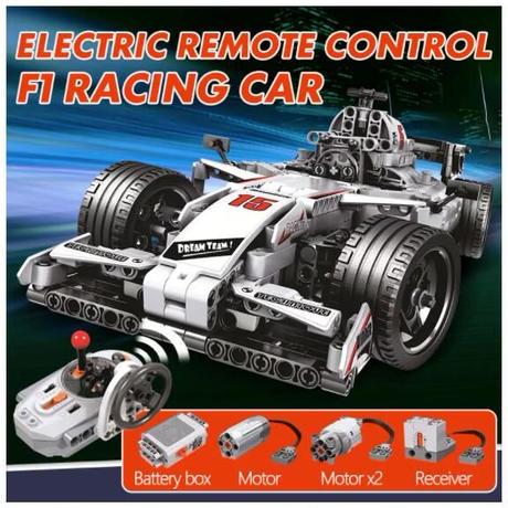 レゴ互換 テクニック F1 レーシングカー RC ラジコン ステアリング 729ピース LEGO互換品