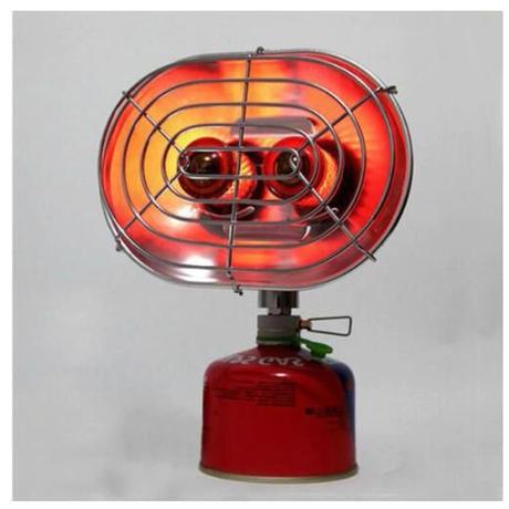 ダブルバーナー ガスストーブ 冬 キャンプ 暖房 ヒーター ウォーマー ガス 赤外線 ポータブル アウトドア 釣り