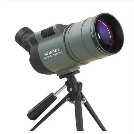 スポッティングスコープ ズーム 単眼望遠鏡 2色 撮影 防水 長距離 ターゲット バードウォッチング 三脚 スコープ