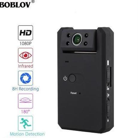 ボブロフMD90ミニDVカメラ 黒 1080P 赤外線 ナイトビジョン ミニビデオカメラ 180度回転モーション検知機能
