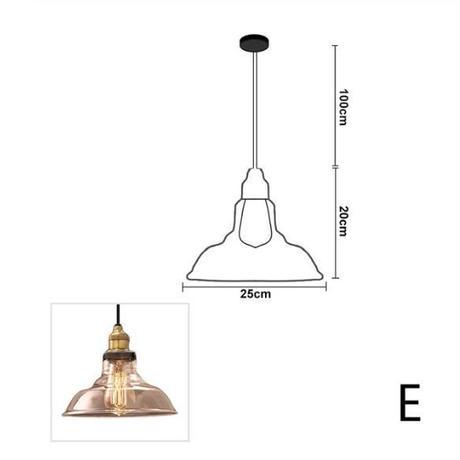 天井ぶら下げランプ LED ヴィンテージ レトロ 天井照明 吊り下げ式 ペンダントライト ガラスホルダー バーランプ