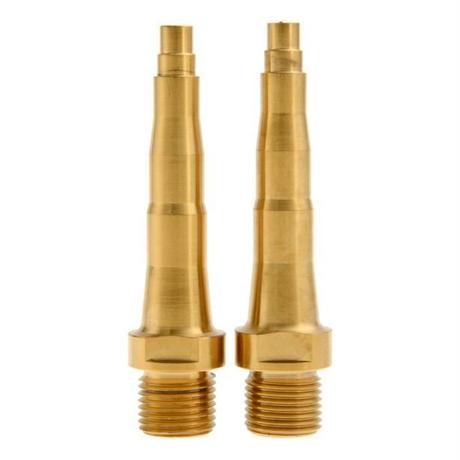 スピードプレイ チタンスピンドル ゴールド シルバー 軽量チタニウム合金製ゼロⅩ1 Ⅹ2対応品ペア57g