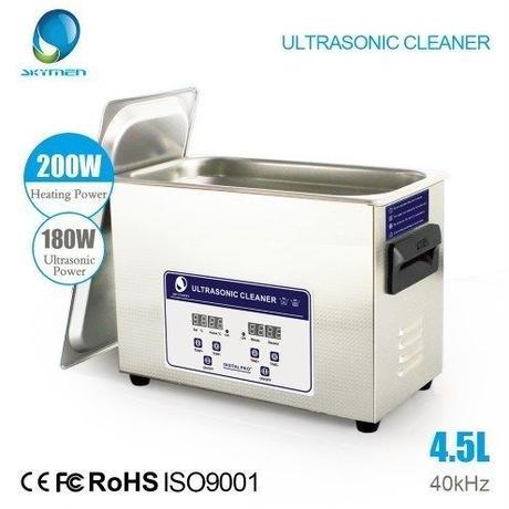 【送料無料】超音波洗浄機 業務用 強力超音波クリーナー 4.5L 180W 機械式制御