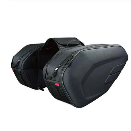 オートバイ サドルバッグ 荷物 スーツケース バイク リアシート サイドバッグ ツーリング パニアケース 防水カバー付き