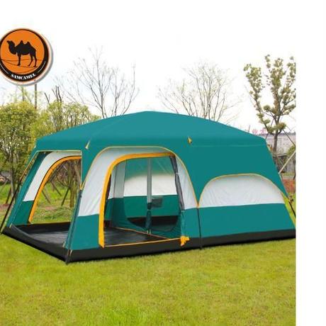 ツールームテント スクリーン付き テント 最大12人収容可能 キャンプ 用品 アウトドア 通気性 防虫 防水 防風 新品