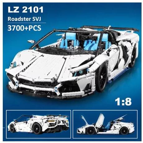 レゴ互換 テクニック ランボルギーニ アヴェンタドール SVJ 1:8 ホワイトカラー ロードスター デザイン LEGO互換品