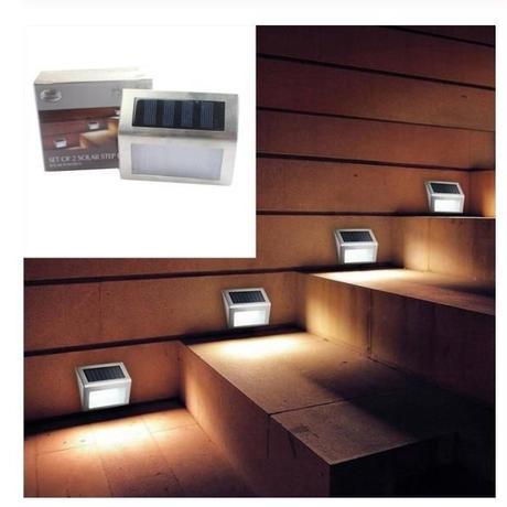 ステップライト 10個セット ソーラー充電 階段 屋外 庭 デッキ 道路 IP65防水 照明 新品