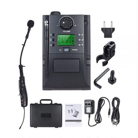 受信機と送信機を備えたポータブルUHF楽器 ワイヤレスマイクシステムサックスサックス用 32チャンネル