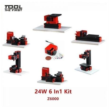 6パターン 変形 卓上 ミニフライス盤 複合ツール 工作機械 旋盤 木材 金属 プラスチック 加工 ミリングマシン 小型 2万回/毎分