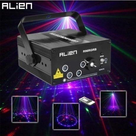 エイリアン RGBミニレーザープロジェクターライト 96パターン DJ ディスコ パーティー 舞台照明 LED