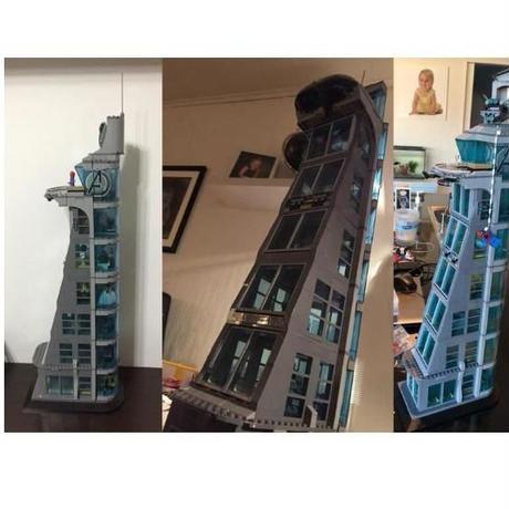 レゴ 互換品 スーパー・ヒーローズ アベンジャーズ タワーの攻撃(7階建てver) ヒーロー出動! LEGO互換