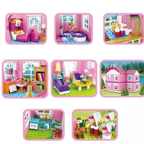レゴ互換 ドールハウス メリーゴーラウンド お城 観覧車 ブロック LEGO互換品 おもちゃ 女の子 プレゼント