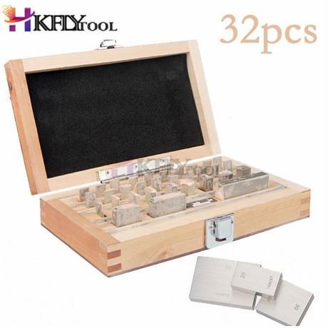 ブロックゲージ 32ピースセット 1.005-50ミリメートル キャリパー ブロックゲージ 測定器