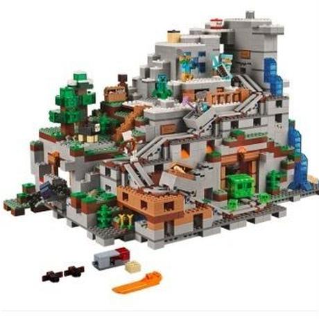 LEGO互換 2932ピース マインクラフト マイクラ 山の洞窟 MINECRAFT レゴブロック互換