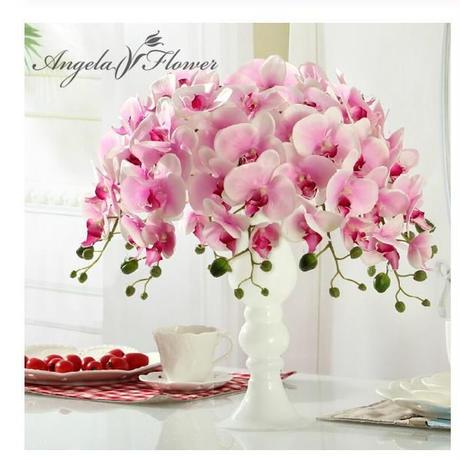 【選べる6色】胡蝶蘭 造花11本セット 大輪 シルクフラワー アートフラワー 枯れない花 ブーケ 花束 アレンジメントに プレゼント お祝い