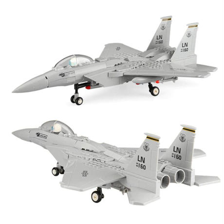 レゴ互換 F-15 イーグル 飛行機 戦闘機 270ピース ミリタリー ブロック 模型 LEGO互換品