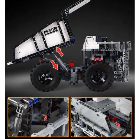 レゴ互換 テクニック MOC マイニングトラック T284 モデル ラジコン仕様 2044ピース LEGO互換品 おもちゃ 誕生日プレゼント