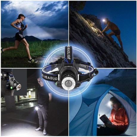 ヘッドライト LED 懐中電灯 XML-V6 高輝度 ヘッドランプ トーチ 防水 キャンプ 自転車 防災 USB アウトドア
