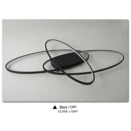 LED シーリングライト 楕円3連デザイン ブラック ホワイト 調光可能 おしゃれ 天井照明 リビング LED 照明器具