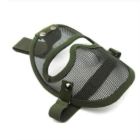 サバゲー用メッシュマスク フェイスガード 歯の被弾を防ぐ フルフェイスマスク