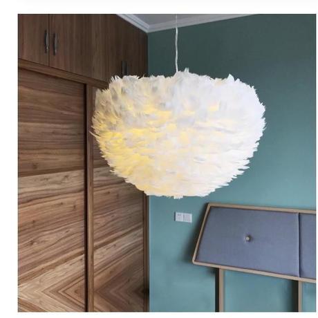 ふわふわ羽シャンデリア 3色 ペンダントライト LEDランプ 引掛シーリング対応 天井 照明器具