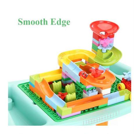 テーブル&ブロック遊び マルチ機能 デスク おもちゃ 収納 机 子供部屋 ブロック 片付け
