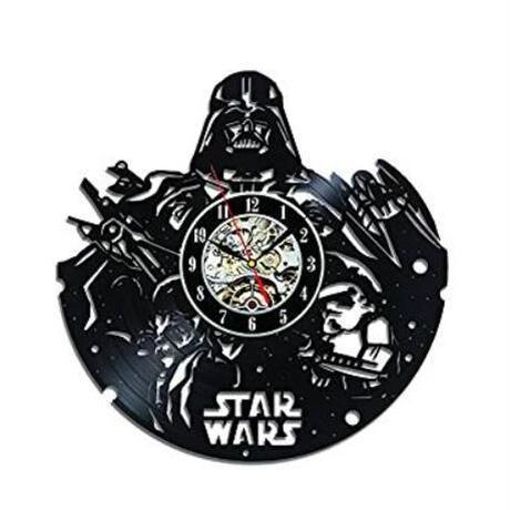 30cm レコード盤 壁掛け時計 スターウォーズ 10種類 映画 STARWARS 人気 おしゃれ エコ インテリア ディスプレイ シルエットデザイン 輸入雑貨