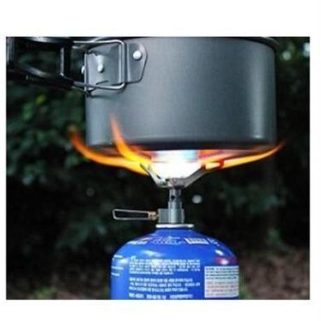 ミニガスバーナー キャンプ用 チタン製 超軽量25g BRS-3000T OD缶用 アウトドア シングルバーナー コンロ