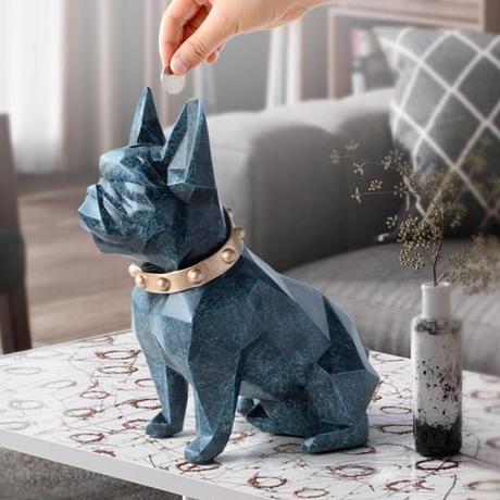 貯金箱 犬デザイン 6色 可愛い 置物 誕生日プレゼント インテリア 貯金箱 ギフト
