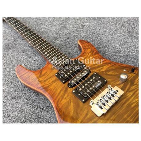 エレキギター コアトップ ウィルキンソン ピックアップ 40インチ ゼブラブラウン ソリッドボディ マホガニー