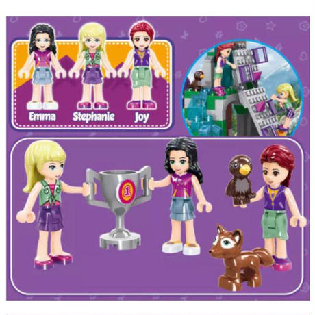 レゴ互換 フレンズ キャンプ ツリーハウス 872ピース LEGO互換 おもちゃ プレゼント 誕生日 クリスマス