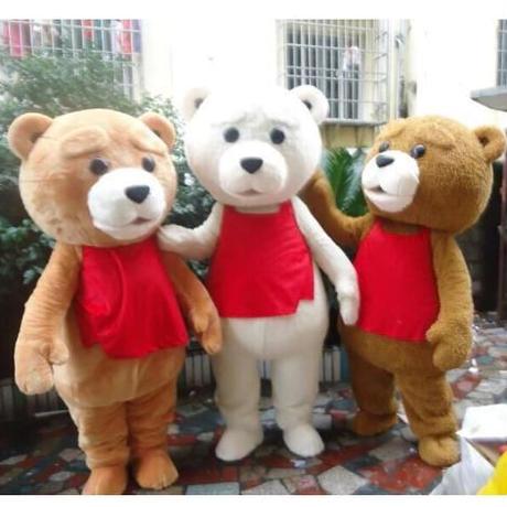 高品質 コスプレ衣装 テディ風 Teddy 着ぐるみ 3色から選択可 白 茶 こげ茶