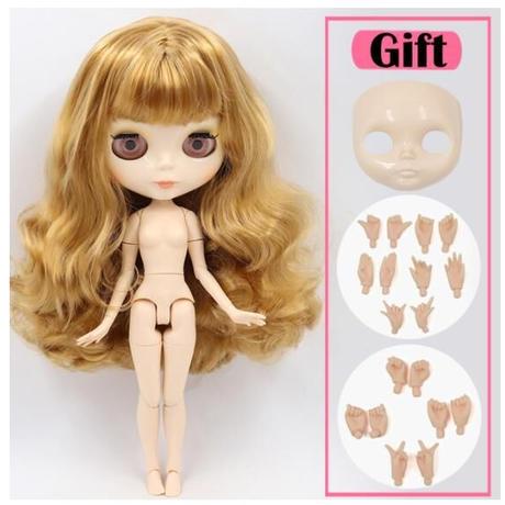 アイシードール 6種類 高品質 本体 可動ボディ セット 付け替えフェイスパーツ + ハンドパーツ 1/6ドール カスタムブライス ブライスドール BJD人形 おもちゃ