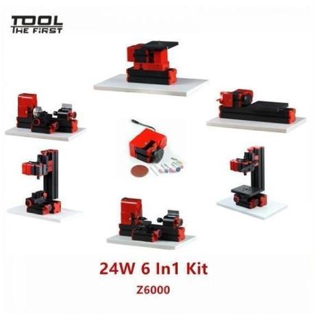 6パターン 変形 卓上 ミニフライス盤 複合ツール 110V対応 工作機械 旋盤 木材 金属 プラスチック 加工 ミリングマシン 小型 2万回/毎分