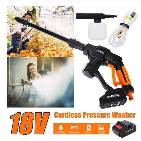 高圧洗浄機 充電式 コードレス 18V 洗車 掃除 庭掃除や洗車に最適