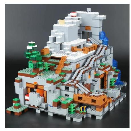 LEGO互換 レゴ マインクラフト ザ・マウンテン洞窟  21137 Minecraft