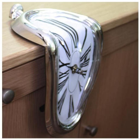 壁掛け時計 歪んだデザイン 4種類 おしゃれ インテリア ディスプレイ ウォールクロック 輸入雑貨