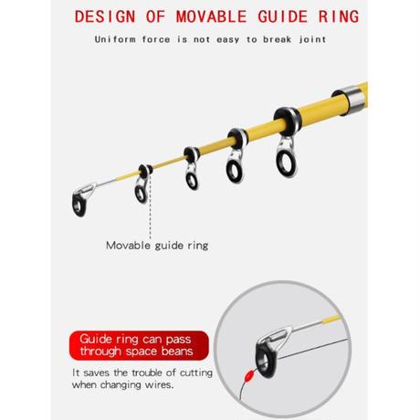 カーボンファイバー 伸縮式 釣り竿 ロッド 2色 1.8M 2.1M 2.4M ポータブル スピニング キャスティングロッド トラベル シーボート ロック