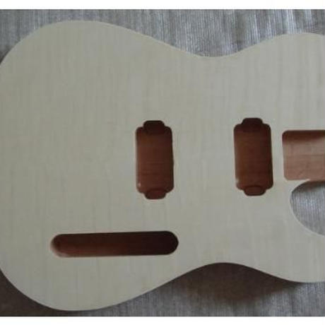 テレキャスタータイプ2ハム未塗装ギターボディtelecastarハムバッカータイプのボディ自作用素材