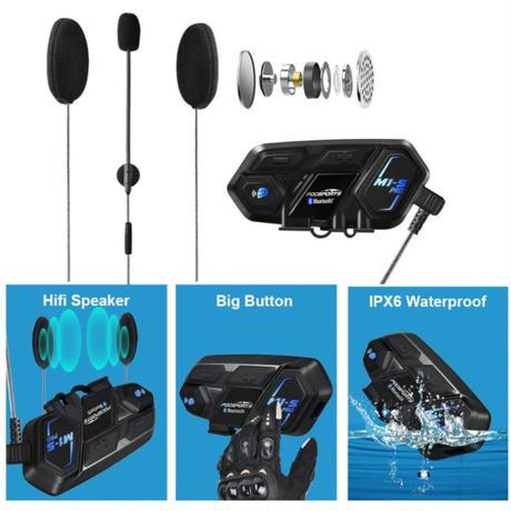 インカムバイク Bluetooth ヘッドセット 2個セット Fodsports M1-S pro 8 人対応 防水 オートバイ ヘルメット インターホン