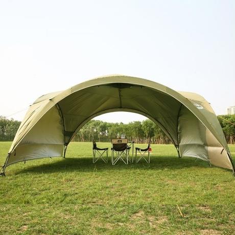 夏のアウトドアに 特大サイズ キャノピー テント 2色 オーニング 紫外線カット ガゼボ