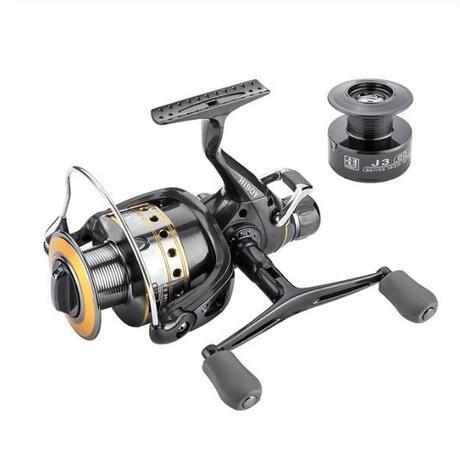 釣りリール鯉スピニングリールカーボンフロントとリアドラッグ18kg最大ドラグ9 + 1 bb金属スプール リールダブルノブ