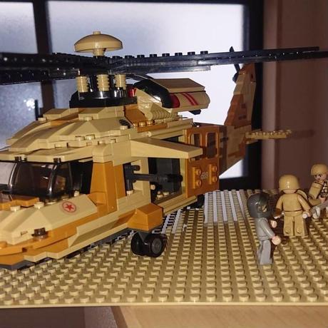LEGO レゴ互換 アメリカ軍ヘリコプター ブラックホーク ミリタリー ブロック模型