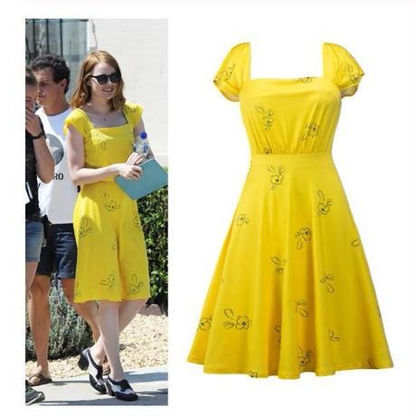 映画 ラ・ラ・ランド ドレス レプリカ 黄色 衣装 仮装 コスプレ コスチューム 海外限定 非売品 映画グッズ 映画関連