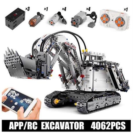 レゴ互換 エクスカベーター パワーショベル ラジコン仕様 4062ピース LEGO互換品 ショベルカー Excavator