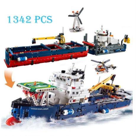 レゴ互換 テクニック 2in1 海洋調査船 42064 オーシャンエクスプローラー 1342ピース LEGO互換品 ブロック おもちゃ
