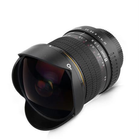ニコン用 魚眼レンズ f/3.5 8ミリメートル 一眼レフ デジタル d3100 d3200 d5200 d5500 超広角レンズ