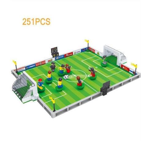 LEGO レゴ 互換 251pcs ワールドカップ サッカースタジアム ミニフィグ付き